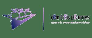 Logo de Com Trois Pommes, agence de communication créative