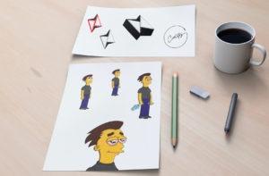 Recherche créative de l'identité visuelle de Carlitoz