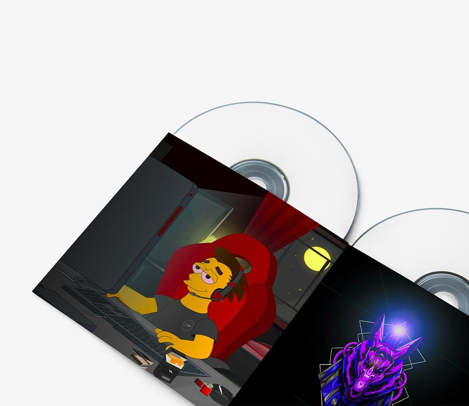 Pochette de musiques de Carlitoz illustrées par Com Trois Pommes