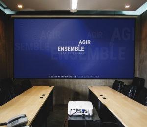 Conception de la présentation numérique d'Agir Ensemble
