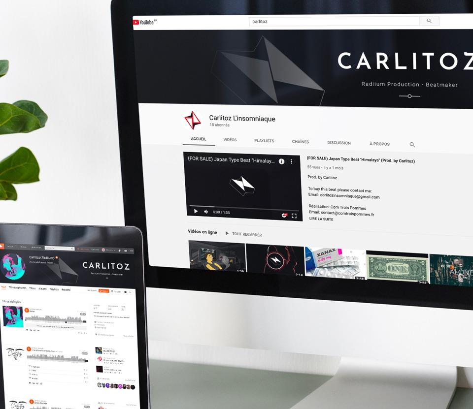 Communication visuelle des réseaux sociaux de Carlitoz