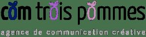 Logo de Com Trois Pommes agence de communication créative en couleurs