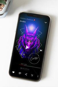 """Conception d'une illustration pour la musique """"Anubis"""" de Carlitoz sur SoundCloud"""