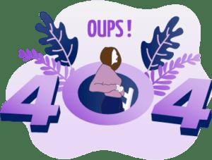 Illustration d'erreur 404 réalisée par Com Trois Pommes