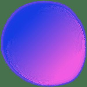 Orbe dégradée aux couleurs de Com Trois Pommes